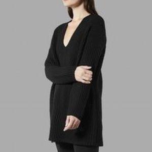 Everlane | E1 black wool oversized tunic sweater S